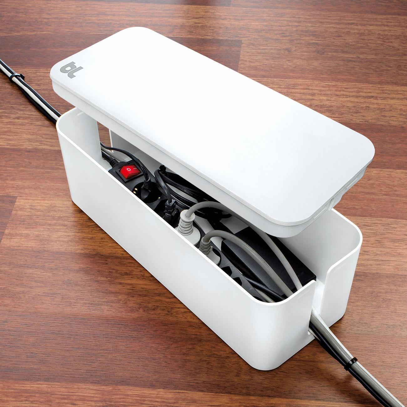 Cablebox kompakt oder cablebox mit 3 jahren garantie for Beistelltisch usb